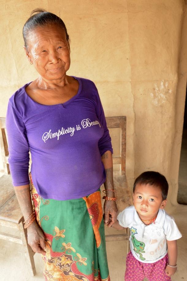 z grandma and grandkid tharu.JPG