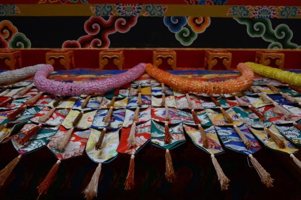 3 Namo Buddha curtain of monastery