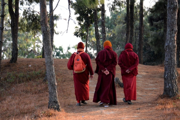 3 Namo Buddha monks