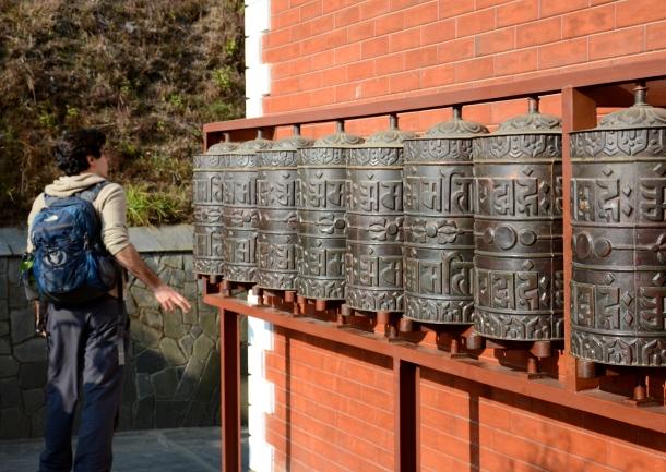 3 Namo Buddha prayer wheels