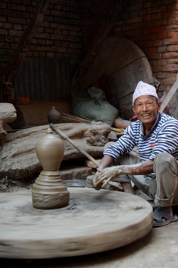 4 Bhaktapur pottery man