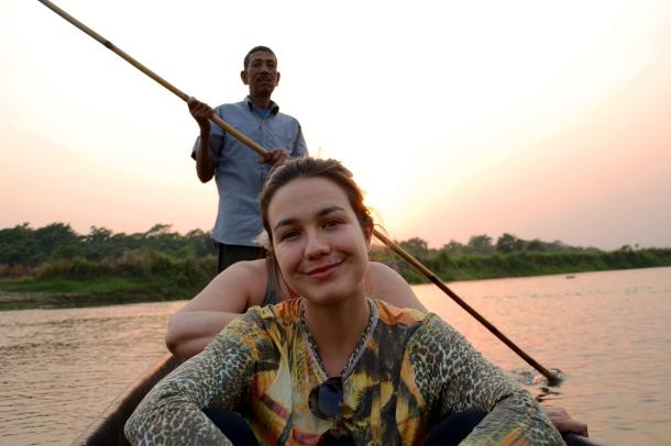 z in the canoe.JPG